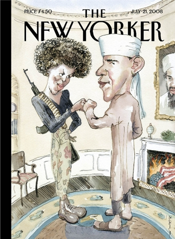 obama on the cover of the new yorker magazine